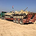 Battle of Mosul - Iraqi security forces transport combat equipment 2.jpg