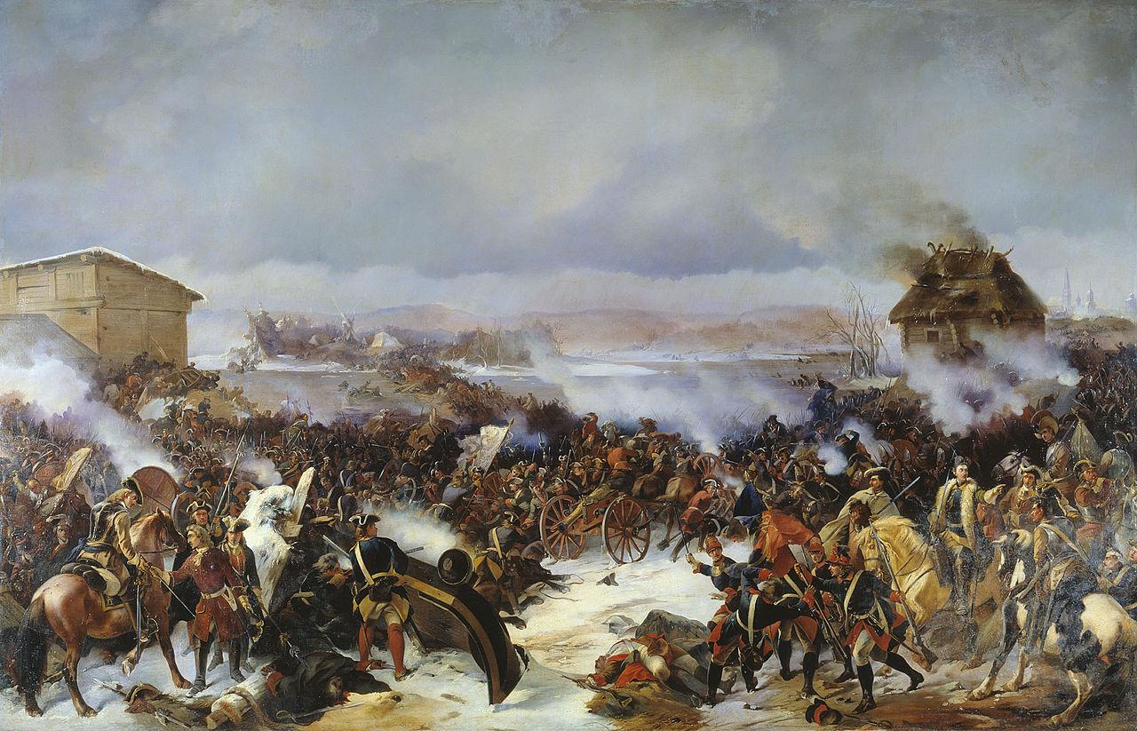 Картина А. Е. Коцебу «Битва при Нарве»