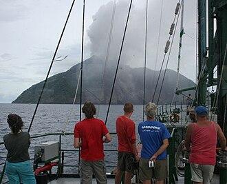 Mount Batutara - Batu Tara eruption, photo courtesy Mike Mate