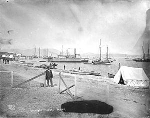 Teller, Alaska - Beach near Teller, Alaska, circa 1901