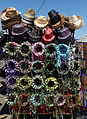 Beach hats at Viking Bay Broadstairs Kent England.jpg