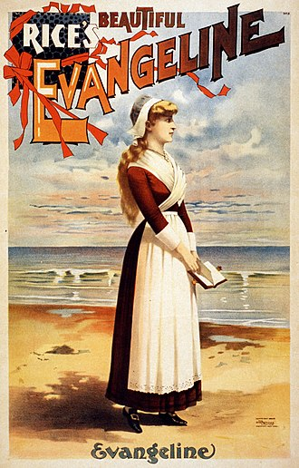 Evangeline (1874 musical) - Poster for Evangeline (1896)