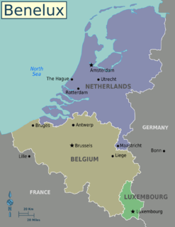 Comparison of the Benelux countries