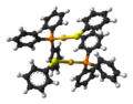 Benzenethiolato(triphenylphosphine)gold(I)-dimer-from-xtal-3D-balls.png