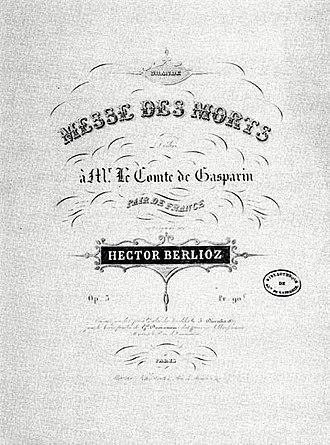 Requiem (Berlioz) - First edition (Paris, 1838)