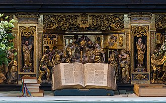Church of Denmark - The Bible, main altar of Roskilde Cathedral