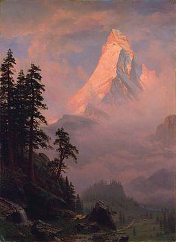 Bierstadt Albert Sunrise on the Matterhorn