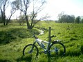 Bike (oh and a river) - geograph.org.uk - 18389.jpg
