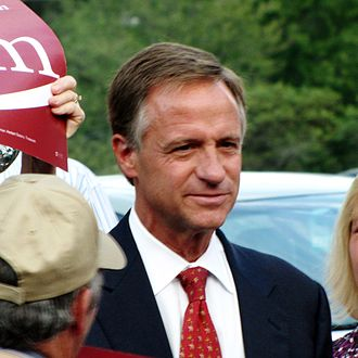Bill Haslam - Haslam addressing supporters before the Highlands Town Hall Debate during the 2010 campaign