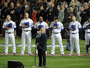 2015 World Series - Billy Joel singing the National Anthem before Game 3