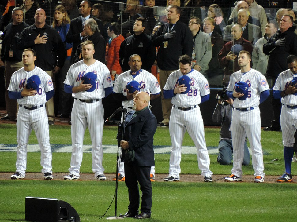 Billy Joel Singing the National Anthem Before Game 3 of the 2015 World Series