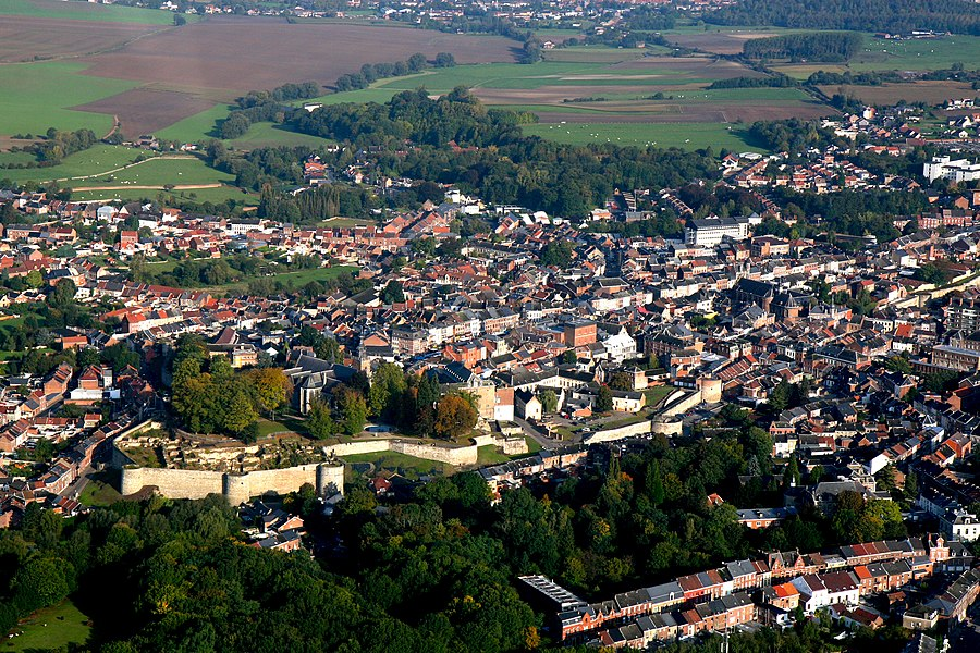 Aerial picture of Binche.