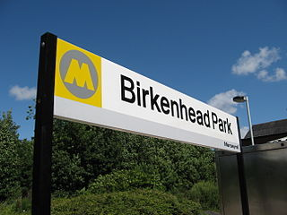 Birkenhead Park railway station Railway station on the West Kirby & New Brighton branches of the Wirral line in England