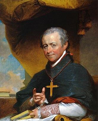 Jean-Louis Lefebvre de Cheverus - Bishop Cheverus by Gilbert Stuart, 1823. Museum of Fine Arts, Boston