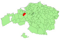 Location of Valle de Trápaga-Trapagaran in Biscay.