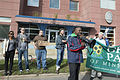 Black Lives Matter protest outside a St. Paul police station (21392008310).jpg
