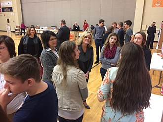 Jennifer McCormick - Jennifer McCormick at Bloomfield High School during the final Workplace Simulation Project Day