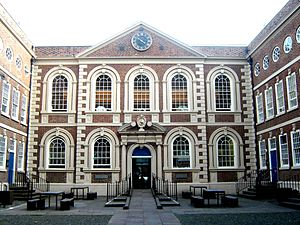 Queen Anne style architecture - Bluecoat Chambers in Liverpool, of 1717, in a version of the original Queen Anne style