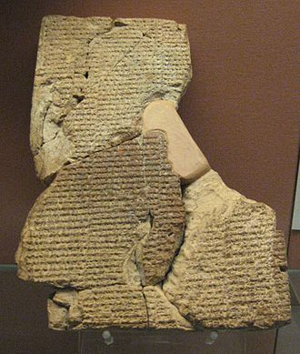 Genesis creation narrative - Cuneiform tablet with the Atra-Hasis Epic in the British Museum