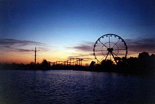 Bobbejaanland amusement park in Lichtaart, Belgium