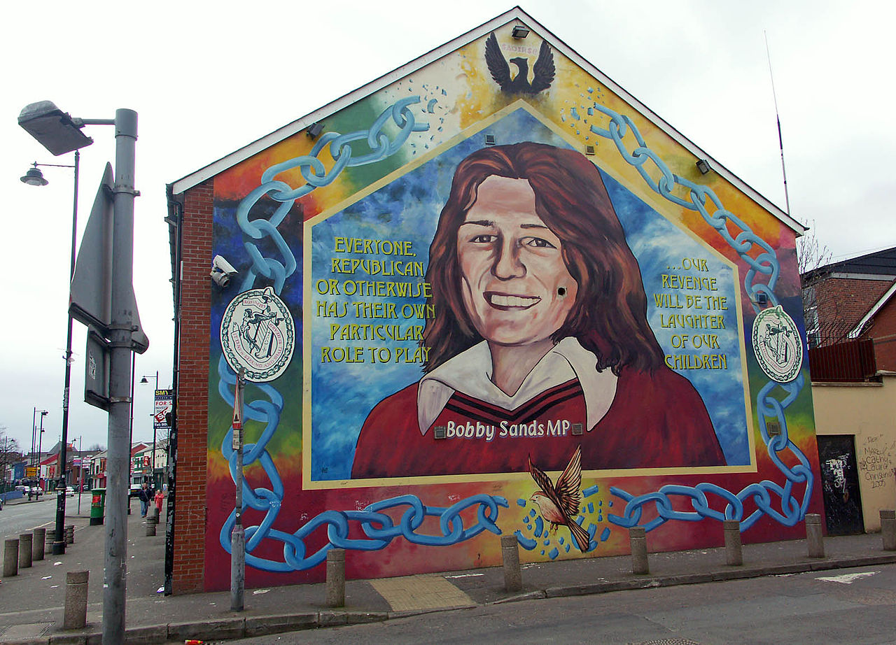 File bobby sands wall wikimedia commons for Bobby sands mural