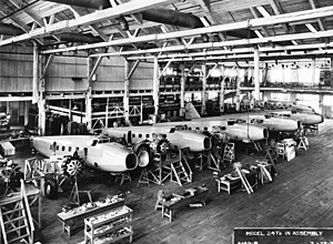 Boeing 247 - The Boeing 247 production line.