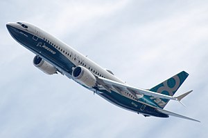 Boeing 737 MAX - Boeing 737 MAX during a flight display
