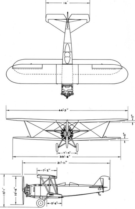 Boeing model 95 drawing