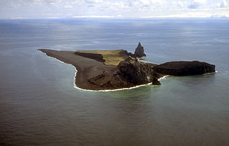 Bogoslof Island - Aerial view, looking south (1994)