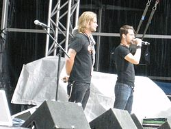 Bollnäs-Martin and Peter Bandit at Sonisphere 2010.jpg