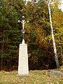 Boršov nad Vltavou, wayside cross W (01).jpg