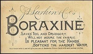 Larkin Company - Boraxine advertisement from 1882