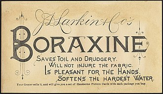 Larkin Company - Boraxine advertisement from 1882