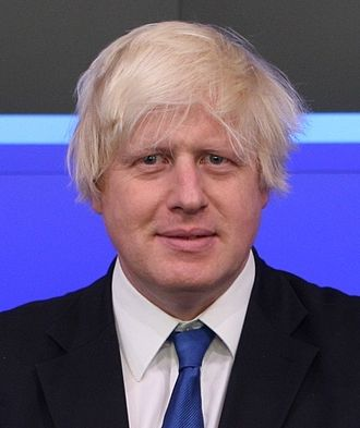 London mayoral election, 2016 - The outgoing Mayor of London, Boris Johnson. The 2016 Mayoral Election was the first in which the incumbent Mayor did not stand for re-election.