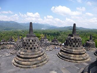 Indonesian Esoteric Buddhism - Borobudur Stupas.