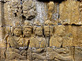 Borobudur - Divyavadana - 007 E, The Chaplain advises Sudhana's Father to send him to War (detail 1) (11704228306).jpg