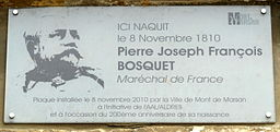Bosquet maison plaque