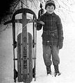 Boy on snow sled, 1945 2.jpg