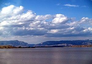 Boysen Dam - View of Boysen Reservoir
