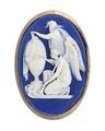 Bröstnål av Wedgewood-gods med änglar, 1700-tal - Hallwylska museet - 110396.tif