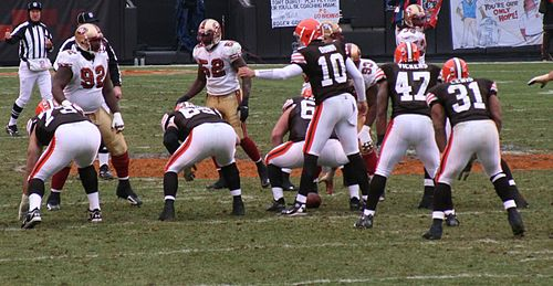 Lewis (#31) lines up to play the San Francisco 49ers in December 2007. Brady quinn.JPG