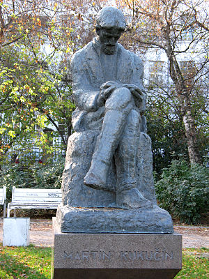 Martin Kukučín - Martin Kukučín statue in Medical garden in Bratislava