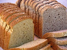 Brown and wholegrain loaves of bread.