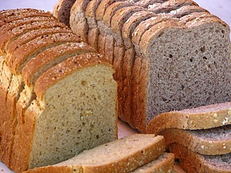 Bread - Brown bread (left) and whole grain bread