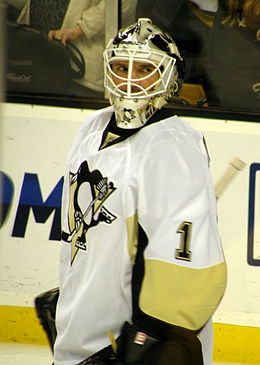 Photographie de Brent Johnson avec les Penguins de Pittsburgh