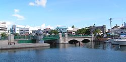 Chamberlain Bridge spanning the Careenage, Bridgetown