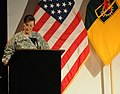 Brig General Colleen L. McGuire giving speech at the Women's History Observance in 2011.jpg