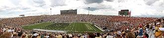 Spectrum Stadium - Panoramic view of Spectrum Stadium during its inaugural game in September 2007