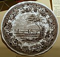British America plate, from the steamship British America, England, 1830, tin-glazed earthenware - Château Ramezay - Montreal, Canada - DSC07549.jpg