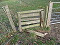 Broken stile at the Long House - geograph.org.uk - 1601051.jpg